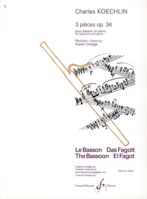 Charles Koechlin - 3 Pieces op. 34 - Bassoon - Sheet Music - di-arezzo.co.uk