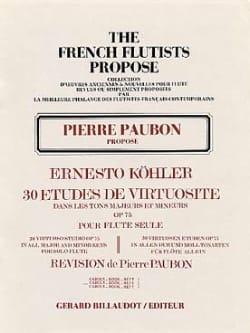30 Etudes de virtuosité op. 75 - Volume 2 Ernesto KÖHLER laflutedepan