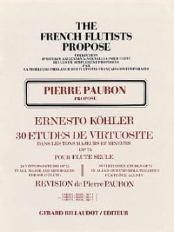 Ernesto KÖHLER - 30 Virtuosity Studies op. 75 - Volume 2 - Sheet Music - di-arezzo.co.uk