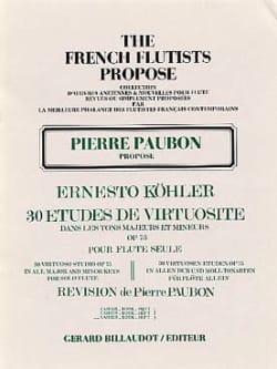 30 Etudes de virtuosité op. 75 - Volume 3 Ernesto KÖHLER laflutedepan