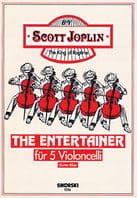 The Entertainer für 5 Violoncelli JOSPLIN Partition laflutedepan