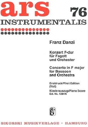 Franz Danzi - Konzert F-Dur –Fagott Klavier - Partition - di-arezzo.fr