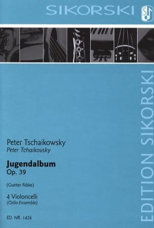 Jugendalbum - 4 Violoncelli TCHAIKOVSKY Partition laflutedepan
