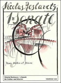 Nikolai Roslawez - Sonate n° 1 – Violon piano - Partition - di-arezzo.fr