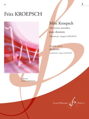 Fritz Kroepsch - Mini-Kroepsch - 228 Daily Exercises Workbook 2 - Sheet Music - di-arezzo.com