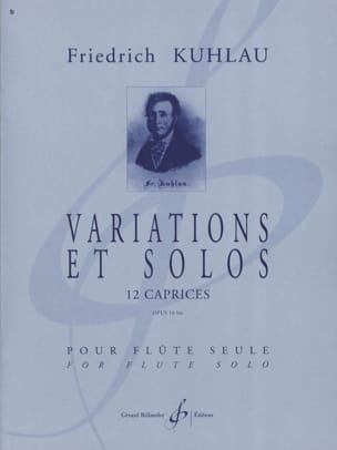 Friedrich Kuhlau - Variations and Solos Opus 10bis - Sheet Music - di-arezzo.com