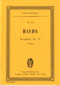 Joseph Haydn - Sinfonie Nr. 13 D-Dur - Partition - di-arezzo.fr