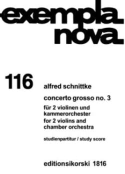 Concerto grosso Nr. 3 - Partitur - Alfred Schnittke - laflutedepan.com