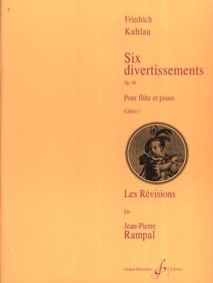 Friedrich Kuhlau - 6 Divertissements Op. 68 Vol. 1 - Partition - di-arezzo.fr