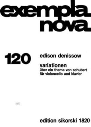 Edison Denisov - Variationen über ein Thema von Schubert für Violoncello und Klavier - Partition - di-arezzo.fr