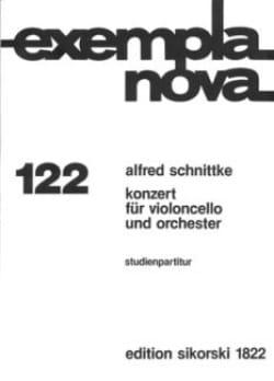 Konzert Nr. 1 für Violoncello - Partitur Alfred Schnittke laflutedepan