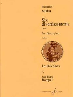 6 Divertissements Op. 68 Vol. 2 - Friedrich Kuhlau - laflutedepan.com