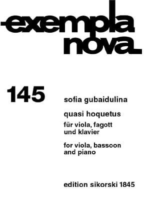 Quasi Hoquetus Sofia Gubaidulina Partition Trios - laflutedepan