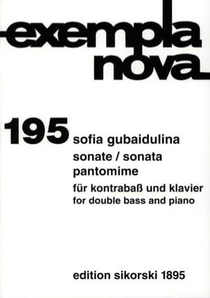Sofia Gubaidulina - Sonate / Pantomime - Partition - di-arezzo.fr