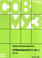 CHOSTAKOVITCH - Streichquartett Nr. 2 op. 68 - Stimmen - Partition - di-arezzo.fr