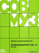 CHOSTAKOVITCH - Streichquartett Nr. 13 op. 138 - Stimmen - Sheet Music - di-arezzo.co.uk