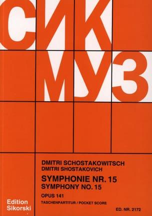 Symphonie Nr. 15 op. 141 - Partitur CHOSTAKOVITCH laflutedepan