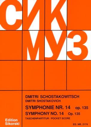 Dmitri Chostakovitch - Symphonie Nr. 14 op. 135 – Partitur - Partition - di-arezzo.fr
