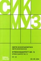 Dmitri Chostakovitch - Streichquartett Nr. 15 op. 144 – Stimmen - Partition - di-arezzo.fr