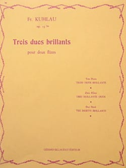 Friedrich Kuhlau - 3 Duos brillants op. 13bis - 2 Flûtes - Partition - di-arezzo.fr