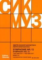 Symphonie Nr. 12 op. 112 - Partitur CHOSTAKOVITCH laflutedepan