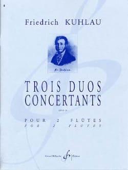 3 Duos concertants Opus 10 - 2 Flûtes Friedrich Kuhlau laflutedepan