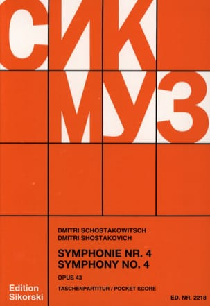 CHOSTAKOVITCH - Symphony Nr. 4 op. 43 - Partitur - Sheet Music - di-arezzo.com