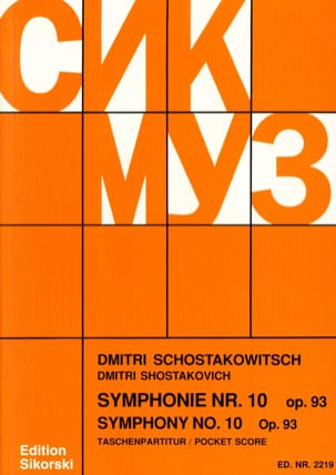 Symphonie Nr. 10 op. 93 - Partitur CHOSTAKOVITCH laflutedepan