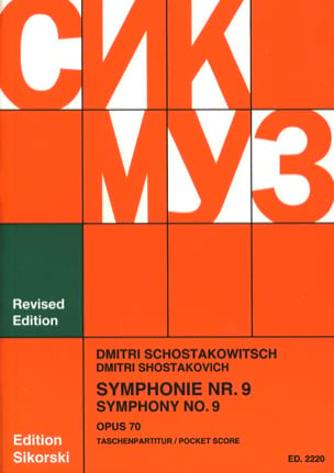 CHOSTAKOVITCH - Symphony Nr. 9 op. 70 - Partitur - Sheet Music - di-arezzo.co.uk