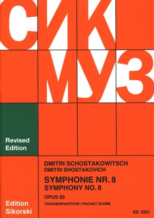 CHOSTAKOVITCH - Symphony Nr. 8 op. 65 - Partitur - Sheet Music - di-arezzo.co.uk
