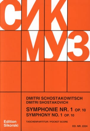 CHOSTAKOVITCH - Symphony No. 1 Op. 10 - Partitur - Sheet Music - di-arezzo.co.uk