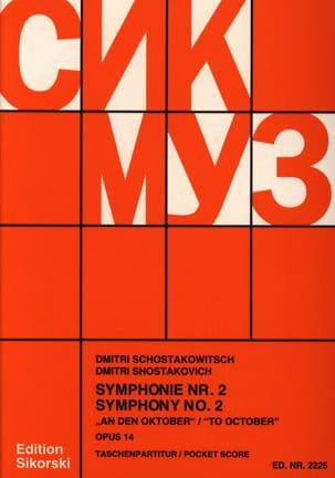 CHOSTAKOVITCH - Symphonie Nr. 2 op. 14 - Partitur - Partition - di-arezzo.fr
