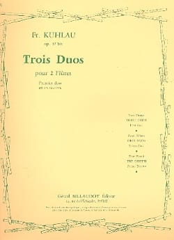 Friedrich Kuhlau - 3 Duos op. 57bis - 1er Duo - 2 Flûtes - Partition - di-arezzo.fr