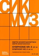 CHOSTAKOVITCH - Symphony Nr. 6 op. 54 - Partitur - Sheet Music - di-arezzo.co.uk