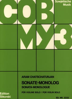 Aram Khatchaturian - Sonata Monolog - Sheet Music - di-arezzo.co.uk