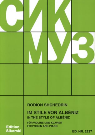 Rodion Shchedrin - Im Stile von Albéniz - Violine - Sheet Music - di-arezzo.co.uk