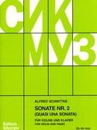 Alfred Schnittke - Sonata n° 2 - Partition - di-arezzo.ch