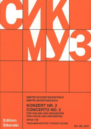 CHOSTAKOVITCH - Concerto Violon n° 2 op. 129 - Partitur - Partition - di-arezzo.fr