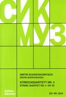 CHOSTAKOVITCH - Streichquartett Nr. 4 op. 83 - Stimmen - Sheet Music - di-arezzo.co.uk