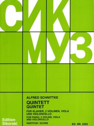 Klavierquintett -Partitur + Stimmen SCHNITTKE Partition laflutedepan