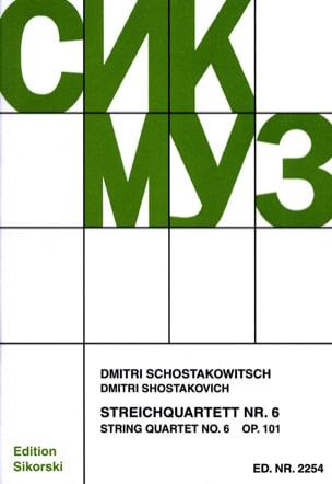 CHOSTAKOVITCH - Streichquartett Nr. 6 op. 101 - Stimmen - Partition - di-arezzo.fr