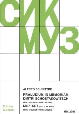 Alfred Schnittke - Präludium in memoriam Dmitri Schostakowitsch / Moz-Art - Partition - di-arezzo.fr