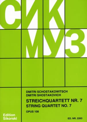 CHOSTAKOVITCH - Streichquartett Nr. 7 op. 108 - Stimmen - Partition - di-arezzo.fr