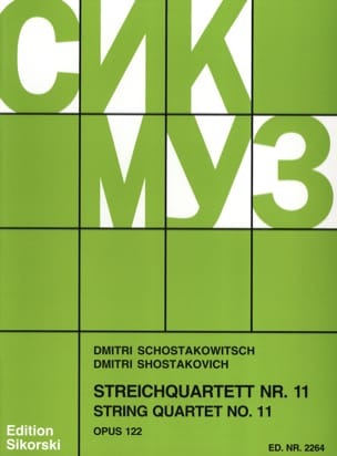 CHOSTAKOVITCH - Streichquartett Nr. 11 op. 122 - Stimmen - Partition - di-arezzo.fr