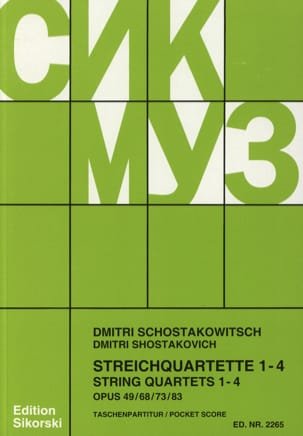 CHOSTAKOVITCH - Streichquartette Nr. 1-4 - Partitur - Sheet Music - di-arezzo.com