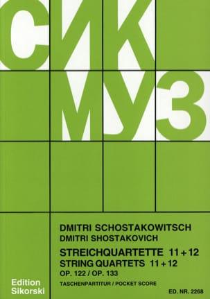 CHOSTAKOVITCH - Streichquartette Nr. 11+12 - Partitur - Partition - di-arezzo.fr