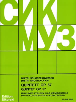 CHOSTAKOVITCH - String Quintet with Piano op. 57 - Sheet Music - di-arezzo.co.uk
