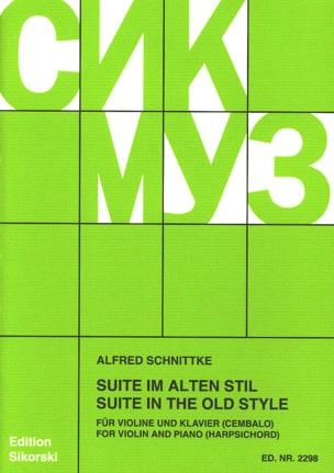 Alfred Schnittke - Suite im alten Stil - Violine Klavier - Sheet Music - di-arezzo.co.uk