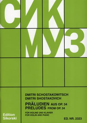 CHOSTAKOVITCH - Präludien aus op. 34 - Sheet Music - di-arezzo.com