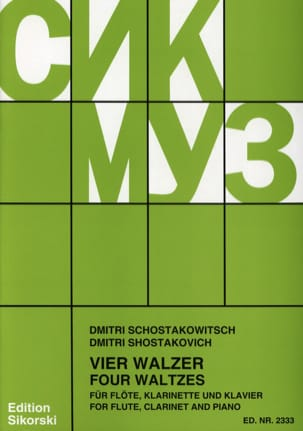 CHOSTAKOVITCH - 4 Walzer - Flöte Klarinette Klavier - Sheet Music - di-arezzo.co.uk